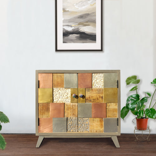 Picasso Mango Wood Cabinet