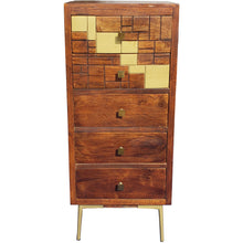 Montevideo Mango Wood Vertical Chest with 4 Drawers