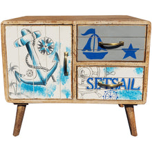 Seaside Mango Wood Chest With 2 Drawers, 1 Door