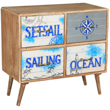 Seaside Mango Wood Chest with 4 Drawers - Chic Teak