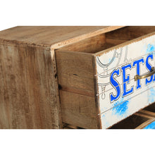 Seaside Mango Wood Chest with 3 Drawers and Cabinet - Chic Teak