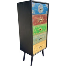 Madagascar Mango Wood Vertical Chest with 5 Drawers