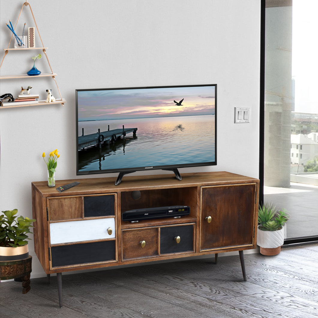 Inca Mango Wood Media Center with 2 Doors and 1 Drawer