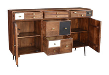 Inca Mango Wood Sideboard with 5 Drawers and 2 Doors