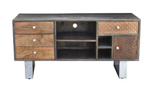 Akot Mango Wood Media Center with 4 Drawers
