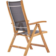 Teak Wood California Reclining Chair with Black Batyline Sling