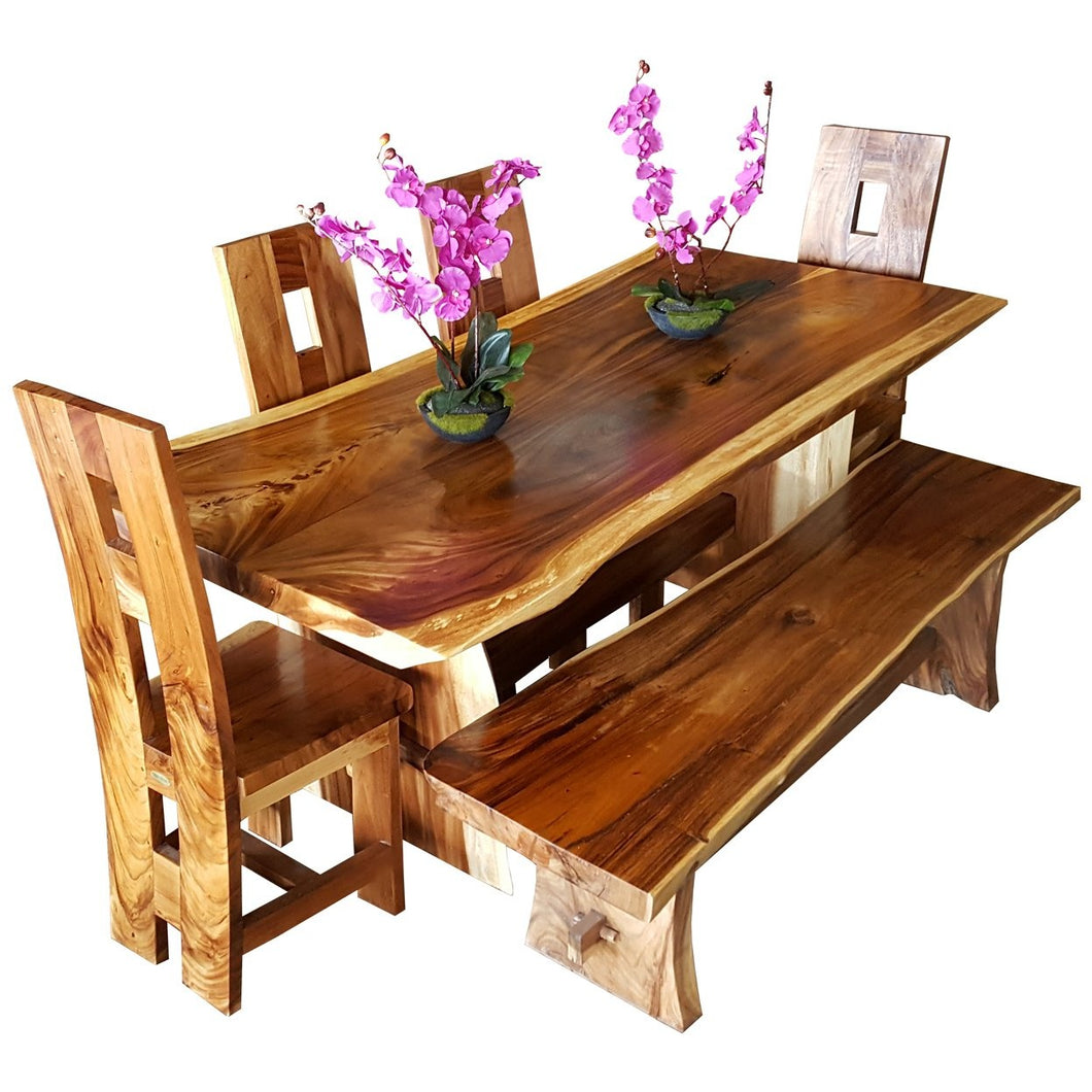 Suar Live Edge Backless Bench approximately 118
