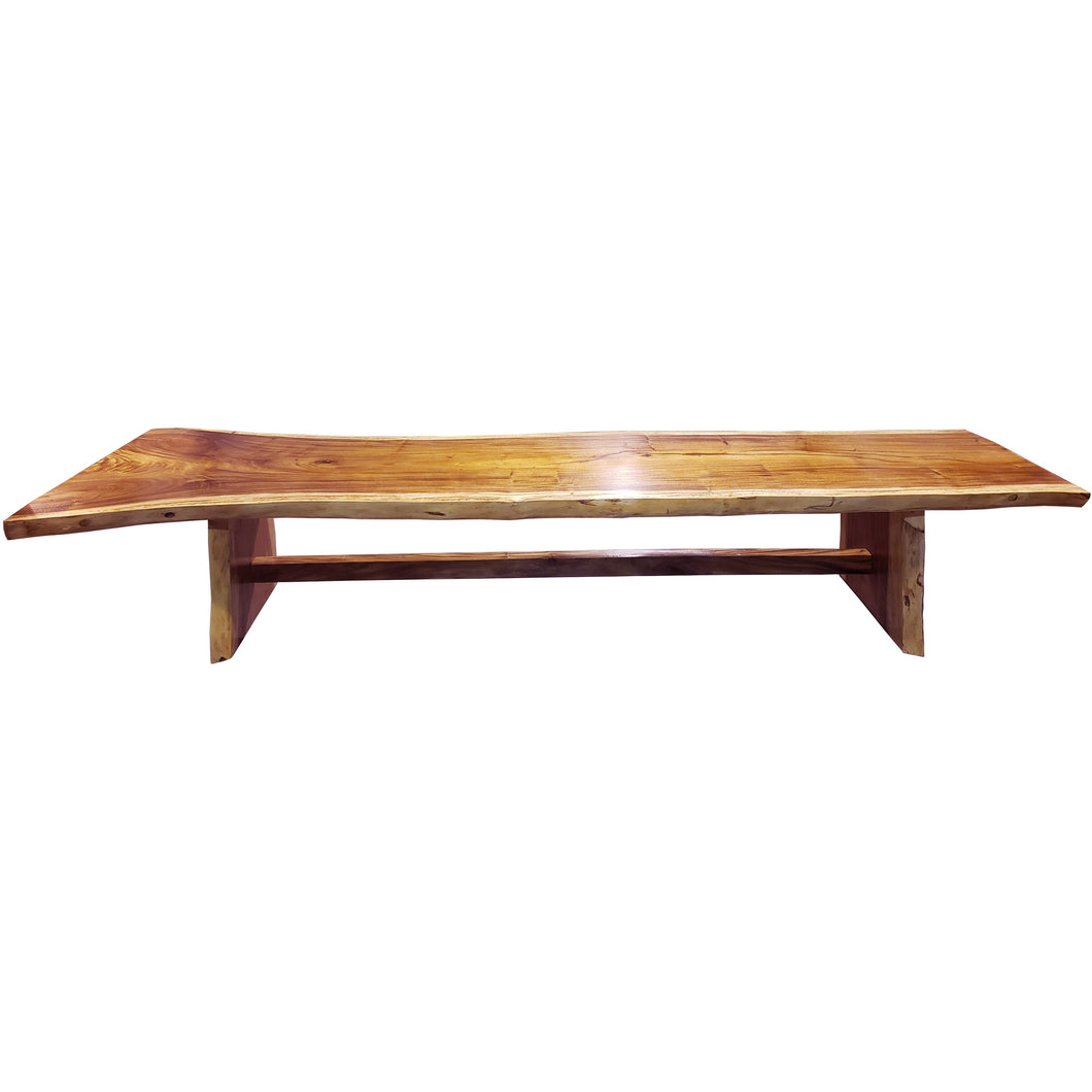 Suar Live Edge Single Slab Hardwood Dining Table/Conference Table, 157 L x 32 W in.