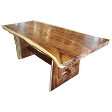 "Suar Live Edge Unique Slab Dining Table 98"" Long (choice of table tops) - Chic Teak"