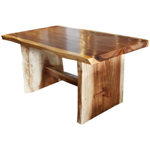 "Suar Live Edge Unique Slab Dining Table - 59"" Long (choice of table tops) - Chic Teak"