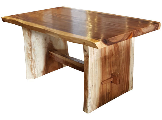 "Suar Live Edge Slab Dining Table - 59"" Long - Chic Teak"
