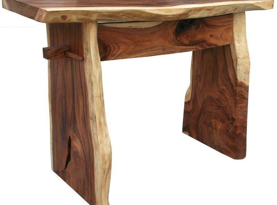 Suar Live Edge Bar, 118 Inch - Chic Teak