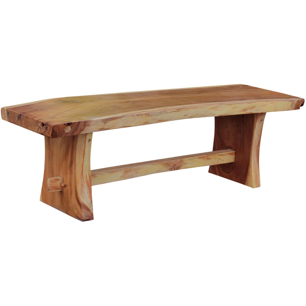 Suar Live Edge Slab Backless Bench approximately 79