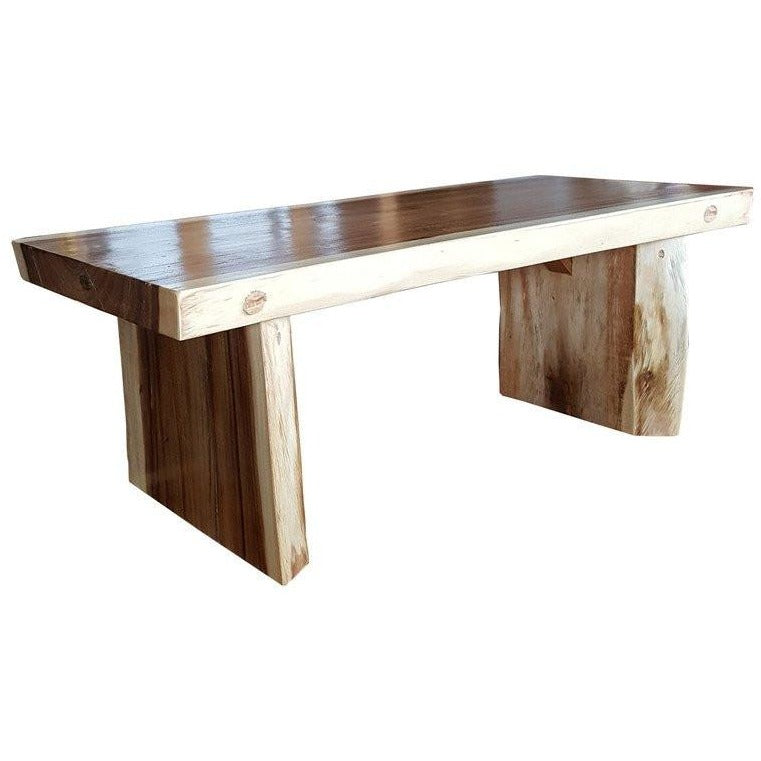 Suar Live Edge Slab Coffee Table - Chic Teak