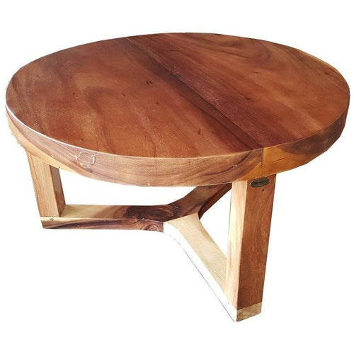 Suar Live Edge Round Coffee Table - 32