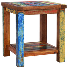 Marina Del Rey Recycled Teak Wood Boat Side Table