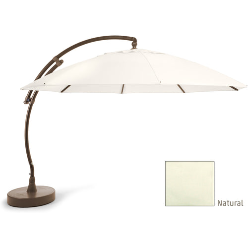 Sun Garden 13 Ft. Easy Sun Cantilever Umbrella and Parasol, the Original from Germany, Natural Canopy with Bronze Frame