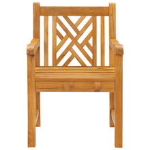 Teak Wood Chippendale Arm Chair