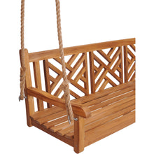 Teak Wood Chippendale Triple Swing