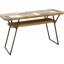 Recycled Teak Wood Brux Art Deco Console / Serving Table - Chic Teak