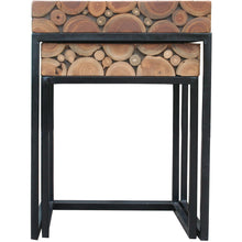 Teak Wood Nesting Side Tables - Set of 2 - Chic Teak