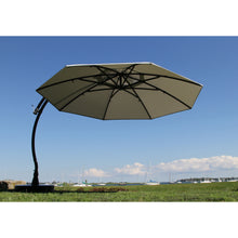 Sun Garden 13 Ft. Cantilever Umbrella and Parasol, the Original from Germany, Heather Color Canopy with Bronze Frame - Chic Teak