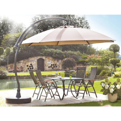 Sungarden Umbrella 13 Ft, the Original from Germany, Color Heather - Chic Teak
