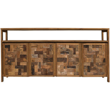 Recycled Teak Wood Mozaik Media Center / Buffet with 4 Wooden Doors - Chic Teak
