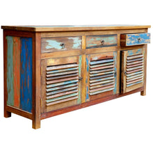 Chest / Media Center 3 Doors and 3 Drawers made from Recycled Teak Wood Boats - Chic Teak