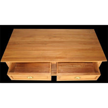 Waxed Teak Wood Mondaine Coffee Table - Chic Teak