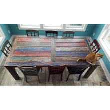 Teak Wood Dining Table Made From Recycled Teak Wood Boats, 87 X 43 Inches - Chic Teak