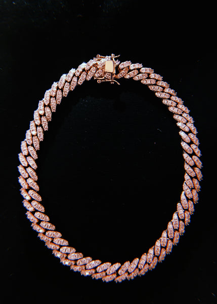 THE PINK ROSEGOLD CUBAN NECKLACE