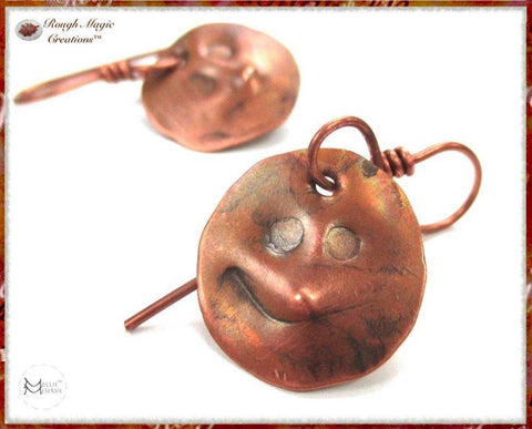 Rough Magic Creations Solid Copper Earrings Collection