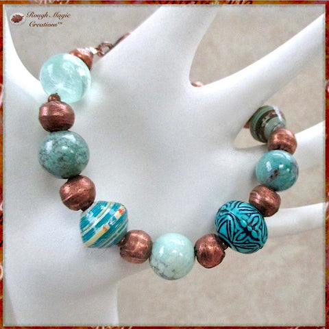 Rough Magic Creations Boho Collection of Bohemian Style handmade jewelry.