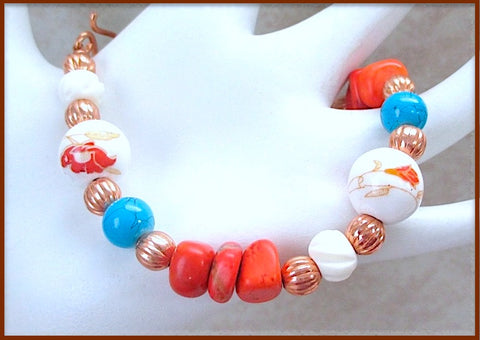 colorful-southwest-bracelet-red-gemstones-turquoise-white-beads-copper-accents