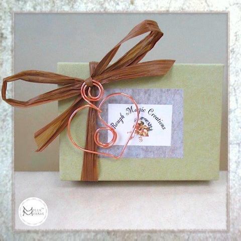 With your order from Mollie Meserve Designs, you'll receive a complementary presentation box similar to this one.