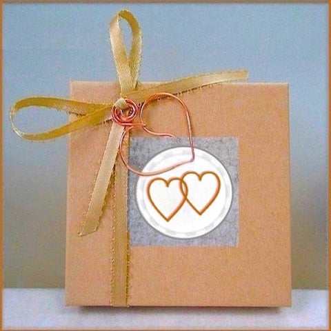 Complementary jewelry presentation box included with purchase of jewelry by Mollie Meserve Designs and Rough Magic Creations