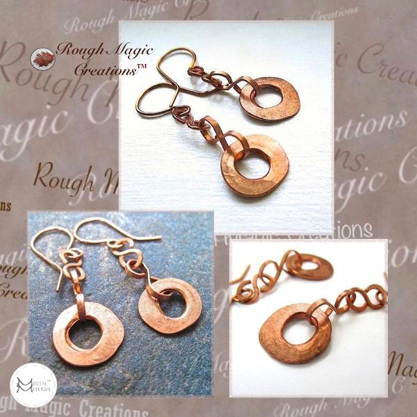 Rustic Jewelry Collection, handmade by Rough Magic Creations