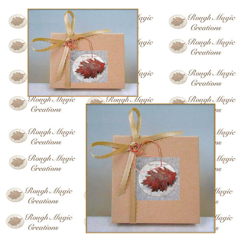 Rough Magic Creations includes a complementary gift box with every order of our handmade jewelry.