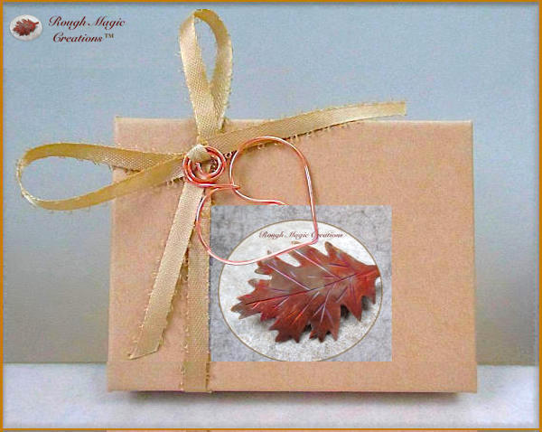 Eco-friendly earring presentation box, complementary with purchase of Rough Magic Creations.