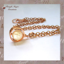 Load image into Gallery viewer, Copper and white freshwater pearl drop pendant on adjustable copper chain, goes from choker up to 19 inch princess length.