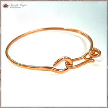 Load image into Gallery viewer, Hammered Copper Bangle Bracelet, Minimalist Jewelry Handmade by Rough Magic Creations