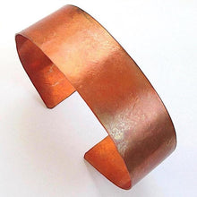 Load image into Gallery viewer, Hammered Copper Cuff Rustic Bracelet 1 inch wide, Primitive Unisex Jewelry