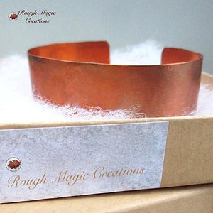 Hammered Copper Cuff Rustic Bracelet, Primitive Unisex Jewelry