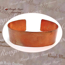 Load image into Gallery viewer, Hammered Copper Cuff Rustic Bracelet, Primitive Unisex Jewelry