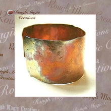 Load image into Gallery viewer, Rustic Copper Cuff Bracelet, Jewelry for Women and Men