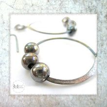 Load image into Gallery viewer, Antiqued sterling jewelry handmade silver earrings