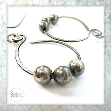 Load image into Gallery viewer, handmade earrings sterling silver jewelry antique patina