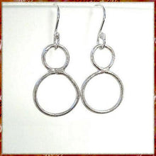 Load image into Gallery viewer, Molten Metal Earrings Rustic Sterling Silver Drops