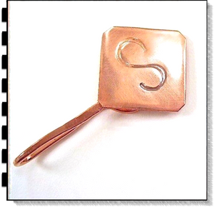 Monogram Money Clip, Hand Forged Copper Accessory
